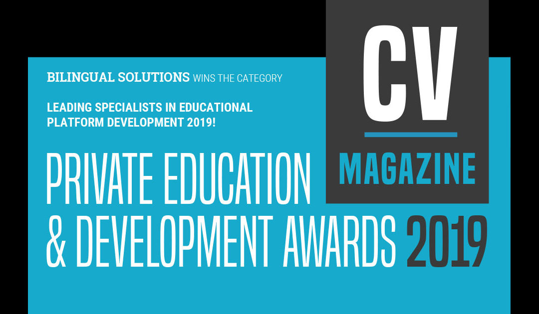 Bilingual Solutions wins The Private Education & Development Awards 2019