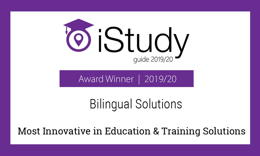 Bilingual Solutions wins iStudy Award 2019/20